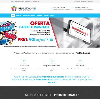 Site de Prezentare Productie Publicitara – Piu Media One